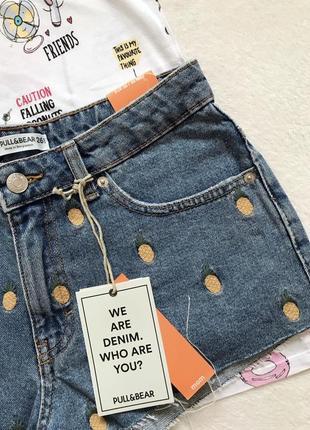 Джинсовые джинсові шорти шортики шорты pull&bear