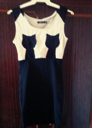 Клубное платье с котиками .