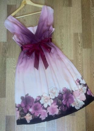 """Элегантное шифоновое платье с эффектом """"омбре"""""""