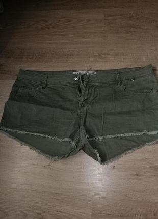 Шорты джинсовые большого размера
