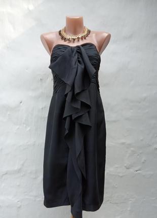 Красивое,вечернее нежное шолковое черное платье💃🏻👑🌇🔥 с открытыми плечами,коктельное.