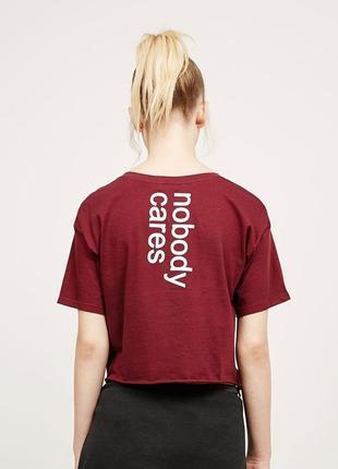 Укорочённый кроп топ/футболка от bershka 🔥
