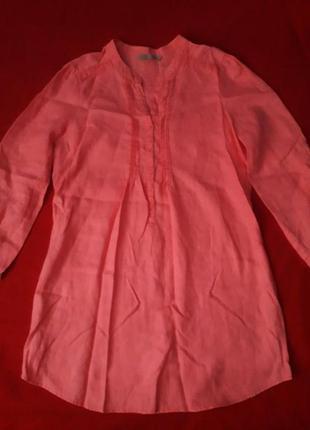 Натуральное льняное платье туника tu