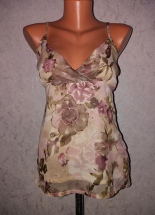 Шифоновая брендовая майка в бельевом стиле xs-s milla1 фото