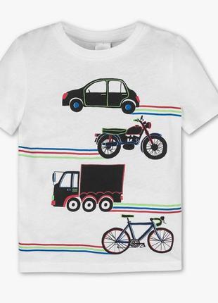 Белая футболка с принтом для мальчика, c&a, 2050544