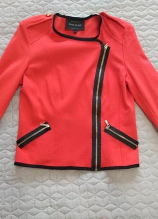 Тонкий стильный пиджак на молнии river island