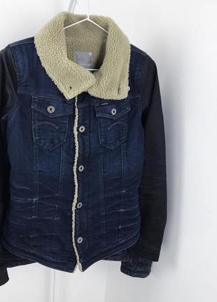 Женская шерпа g-star джинсовая куртка джинсовка