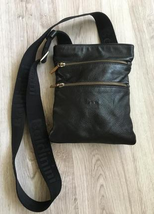 Кожаная сумка кросс боди бренд  baldinini  оригинал унисекс