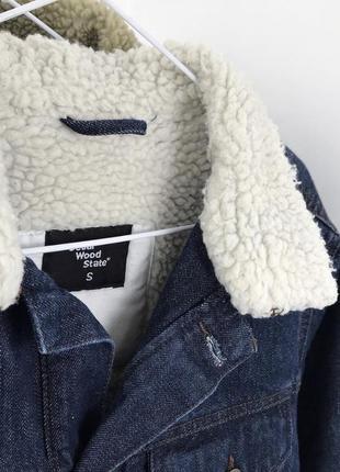 Мужская шерпа cedarwood state джинсовая куртка джинсовка4 фото