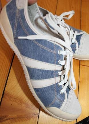 38 разм. geox respira кроссовки - кеды. оригинал. замша и джинс
