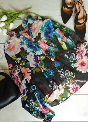 Яркая летняя блузка h&m1 фото