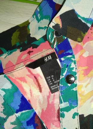Яркая летняя блузка h&m7 фото