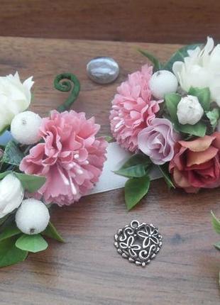 Комплект свадебных бутоньерок