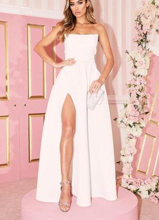 Белое воздушное длинное платье!