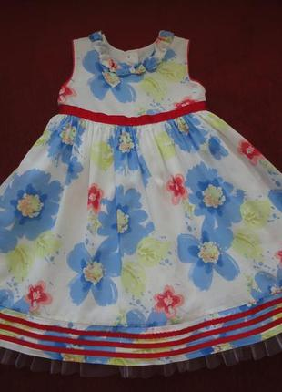 Нарядное платье marks & spencer 1, 5- 2 года , (рост 86-92).