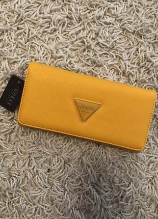 Желтый кошелёк guess
