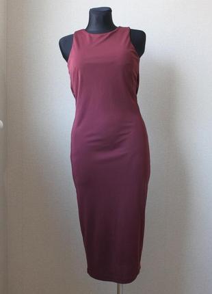 Платье бордо h&m