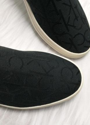 Calvin klein оригинал черные жаккардовые слипоны с логотипом3 фото