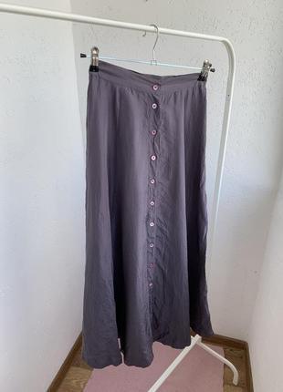 Юбка 100% шёлк silk на пуговицах миди