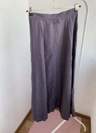 Юбка 100% шёлк silk на пуговицах миди2 фото