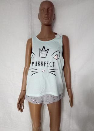 Пижама, домашний костюм кот с короной2 фото