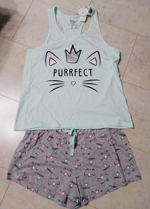 Пижама, домашний костюм кот с короной3 фото
