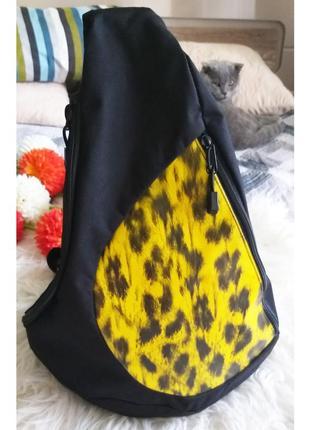 Крутой вместительный городской рюкзак с леопардовым принтом