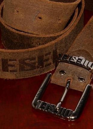Ремень кожаный diesel leather belt leather belt
