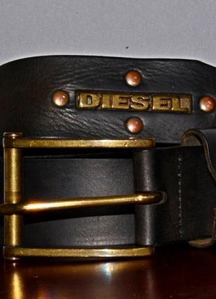 Кожаный ремень diesel leather belt