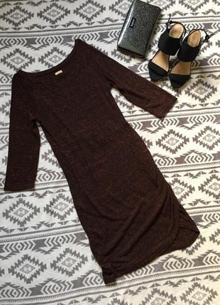Меланжевое стильное платье