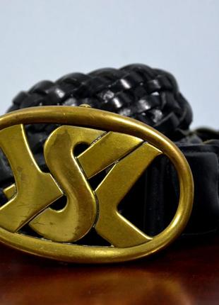 Ремень кожаный yves saint laurent vintage leather belt