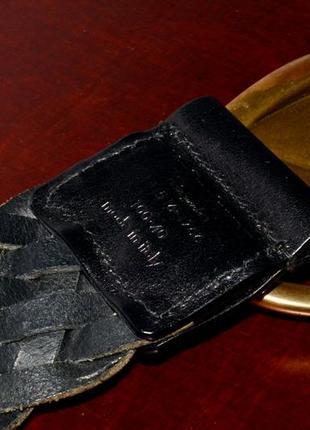 Ремень кожаный yves saint laurent vintage leather belt5 фото