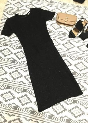 Платье с открытой спинкой из ламе