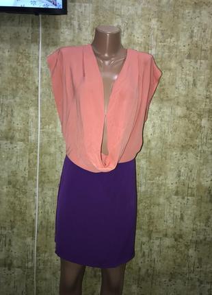 Шёлковое платье,фиолетовое платье,коралловое платье
