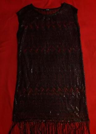 Платье туника пляжная george с золотистым напылением