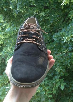 Замшевые молодежные туфли