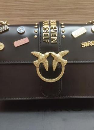 Pinko пинко love bag 27 см сумка женская черная2 фото