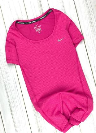 Тренинговая футболка nike running розовая