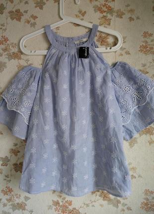 Блуза открытые плечи вышивка прошва р. 52-54 от