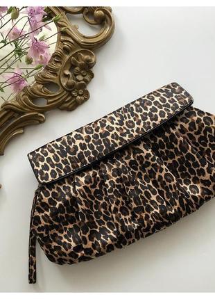 Леопардовый клатч сумка next