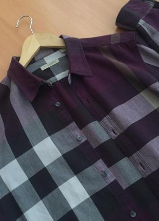 Burberry brit plaid exploded grey check cotton shirt рубашка клетка сорочка барбери