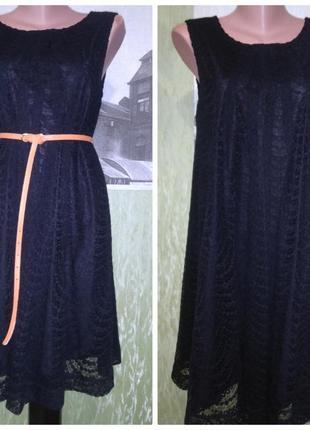Чёрное,гипюровое,кружевное платье/можно для беременных/свободное/стильное/ h&m2 фото