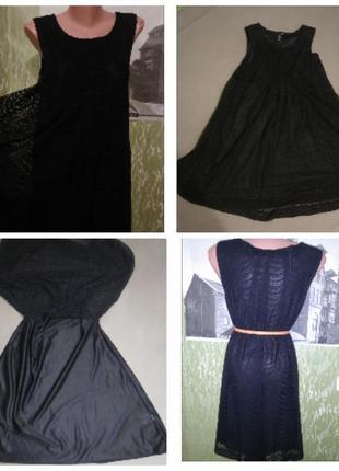 Чёрное,гипюровое,кружевное платье/можно для беременных/свободное/стильное/ h&m4 фото