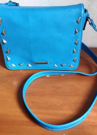 Синяя сумка через плечо daniele patrici