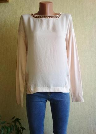 Роскошная брендовая блуза реглан,р.38-40