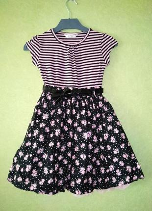 Красивое нарядное платье age на девочку 6-8 лет