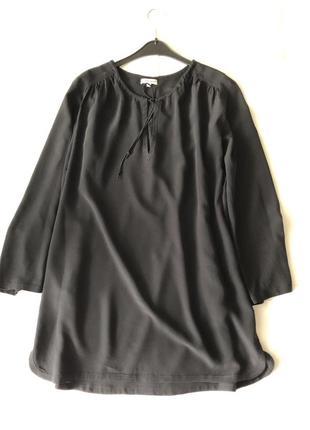 Шелковая туника-платье.  m(пог-55). натуральный шёлк 100%