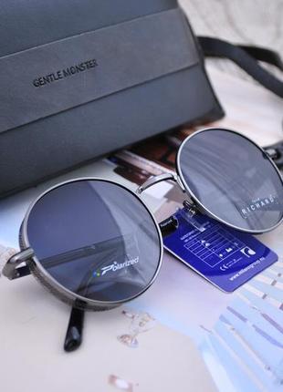 Стильные фирменные круглые очки унисекс marc john с шорой