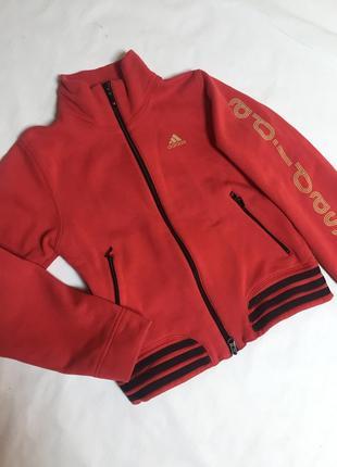 Спорт кофта тёплая бобка adidas