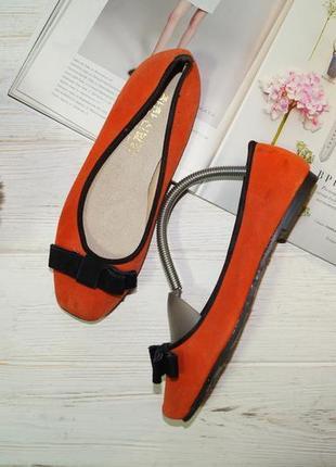 Замша! красивые туфли, балетки на низком ходу